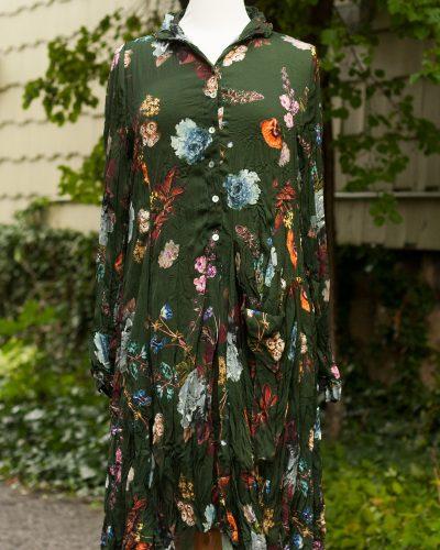 ALEMBIKA Green Floral Dress