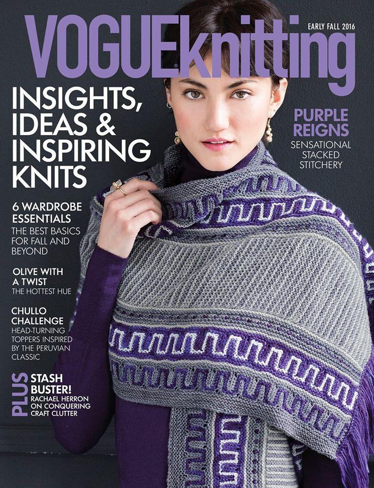Vogue Knitting Patterns 2016 : Vogue knitting early fall fine points